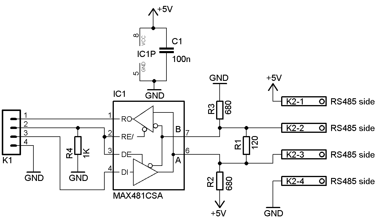rs232 ttl to rs485 converter